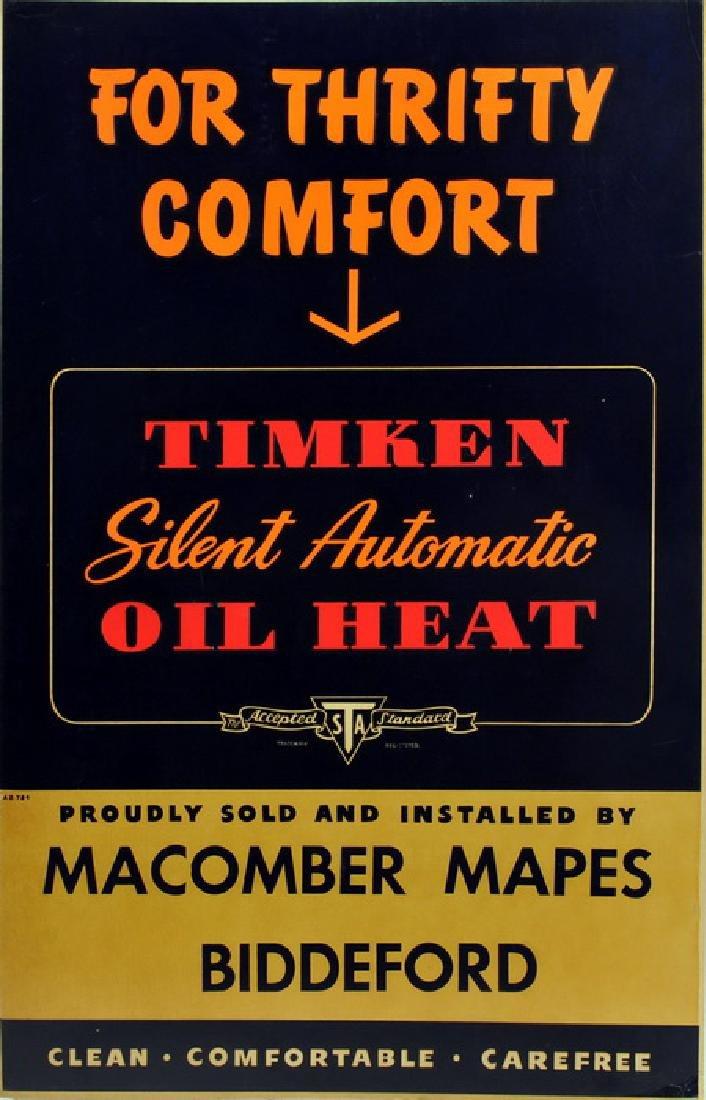 Biddeford Maine Heating Oil Cardboard Sign