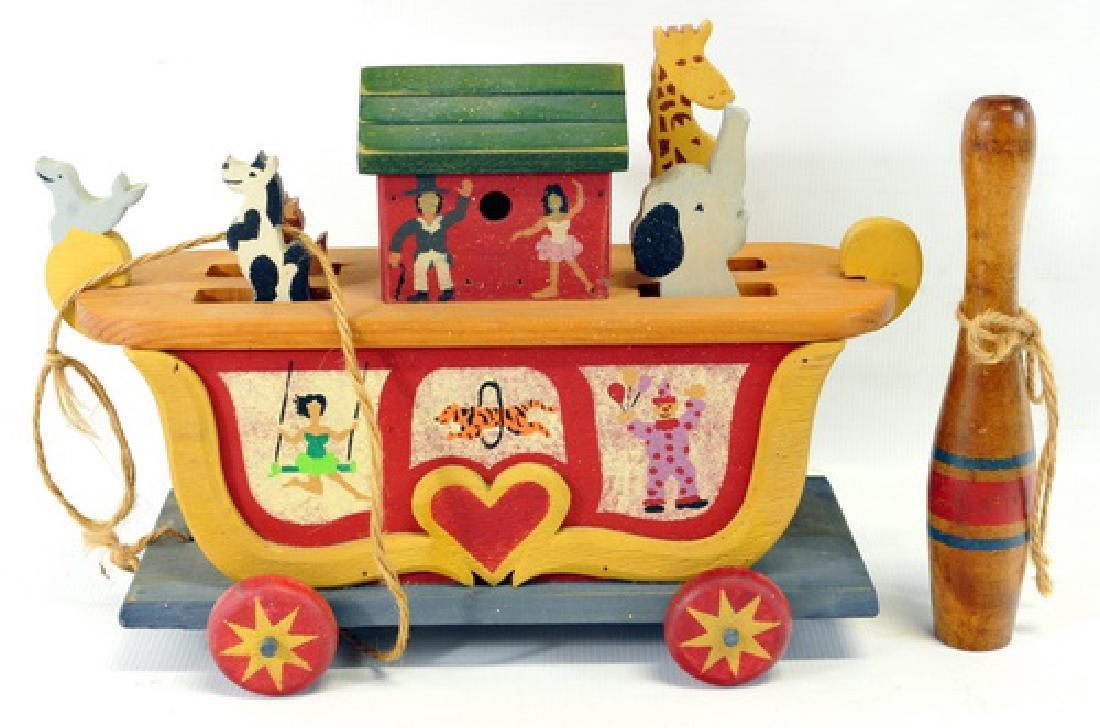 Vintage Toys Cast Iron/wood