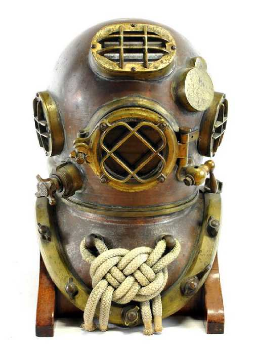 Wwii Us Navy Mark V Model 1 Diving Helmet