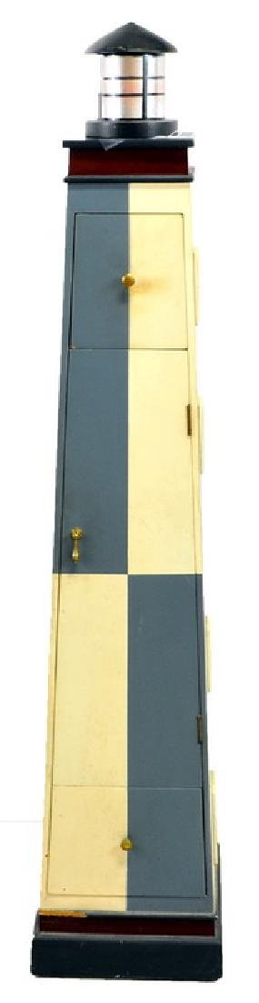 Vintage Lighthouse Cabinet With Pull Out Drawers
