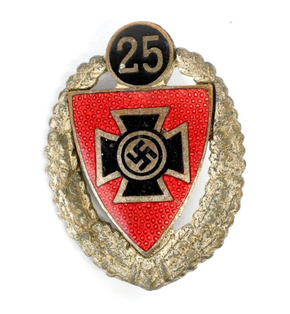 Wwii Nazi Veterans Org 25 Year Enameled Pin