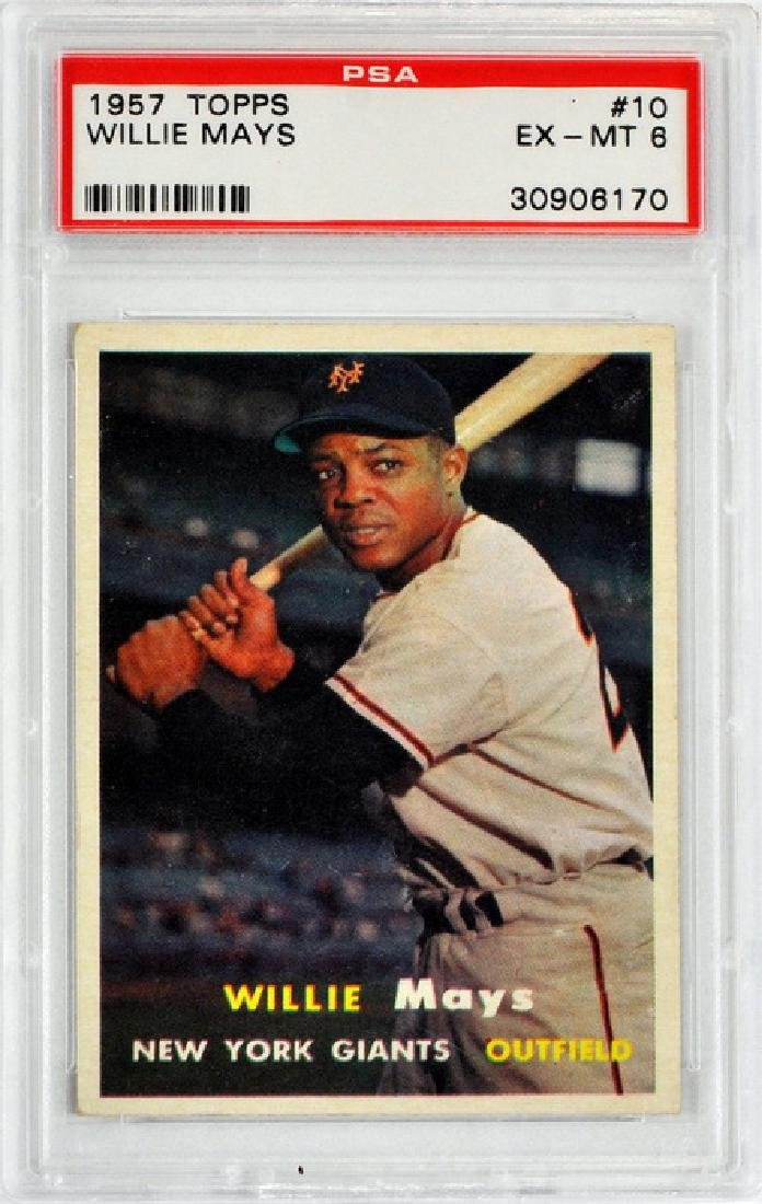 1957 Topps Willie Mays Card #10 Psa 6