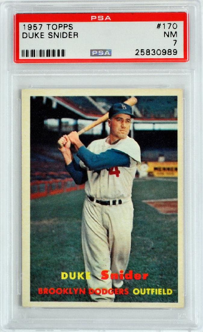 1957 Topps Duke Snider Psa 7