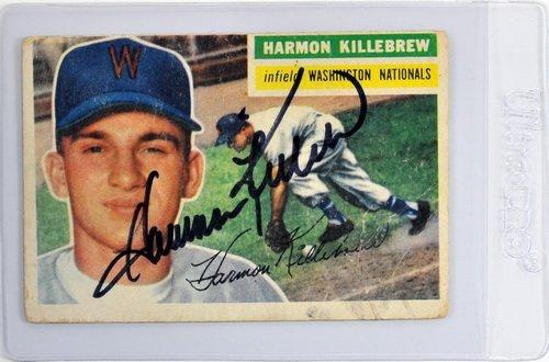 1956 Topps Harmon Killebrew Signed Card