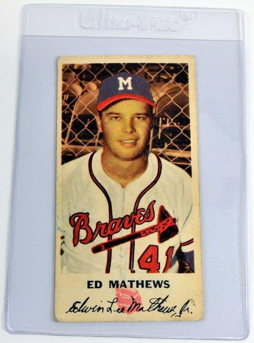 1954 Johnson Cookies Eddie Mathews