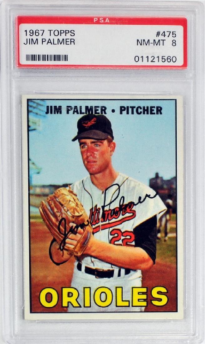 1967 Topps Jim Palmer Psa 8