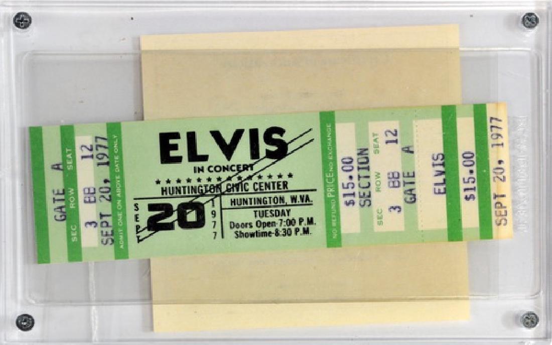 Elvis Pressley Full Concert Ticket 1977