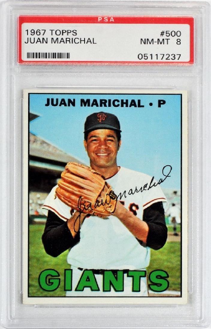 1967 Topps Juan Marichal Psa 8
