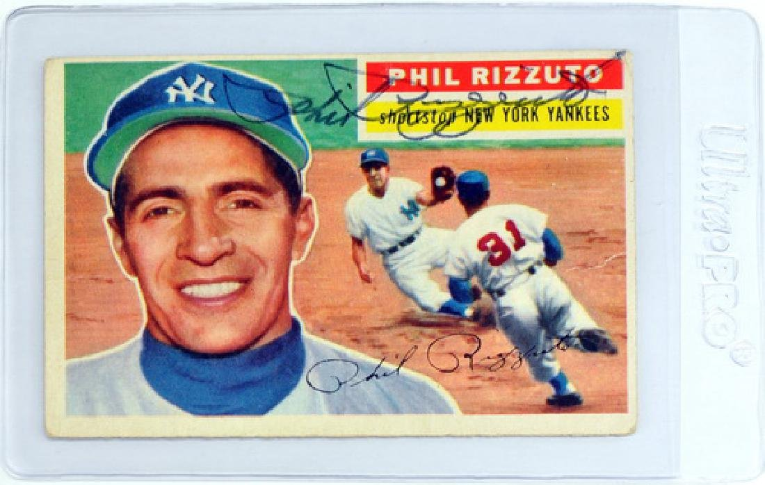 1956 Topps Phil Rizzuto Signed Card