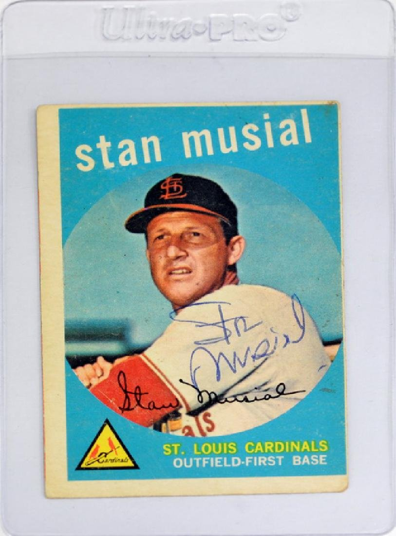 1959 Topps Stan Musial Signed Card
