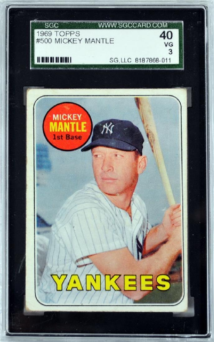1969 Topps Mickey Mantle Gsc 40 Vg 3