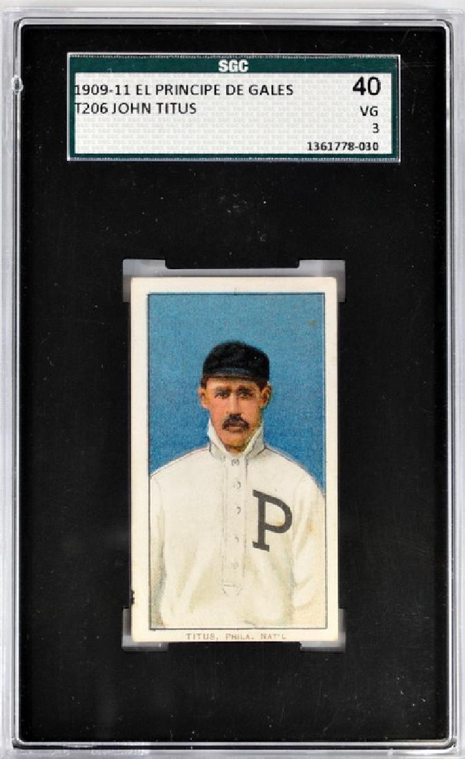 1909-11 T206 John Titus Epdg Back Sgc 40 Vg 3