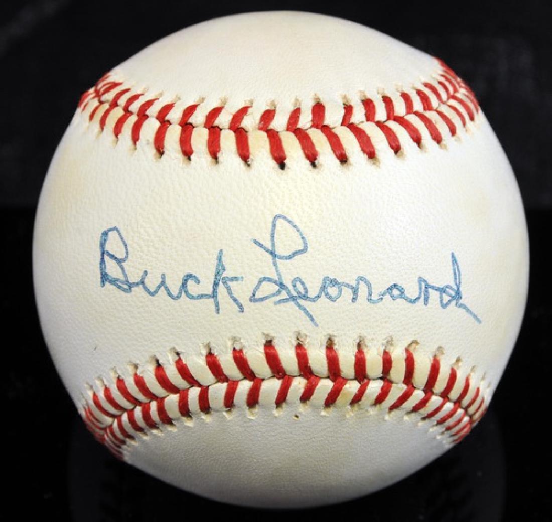 Buck Leonard Signed Baseball Jsa Coa