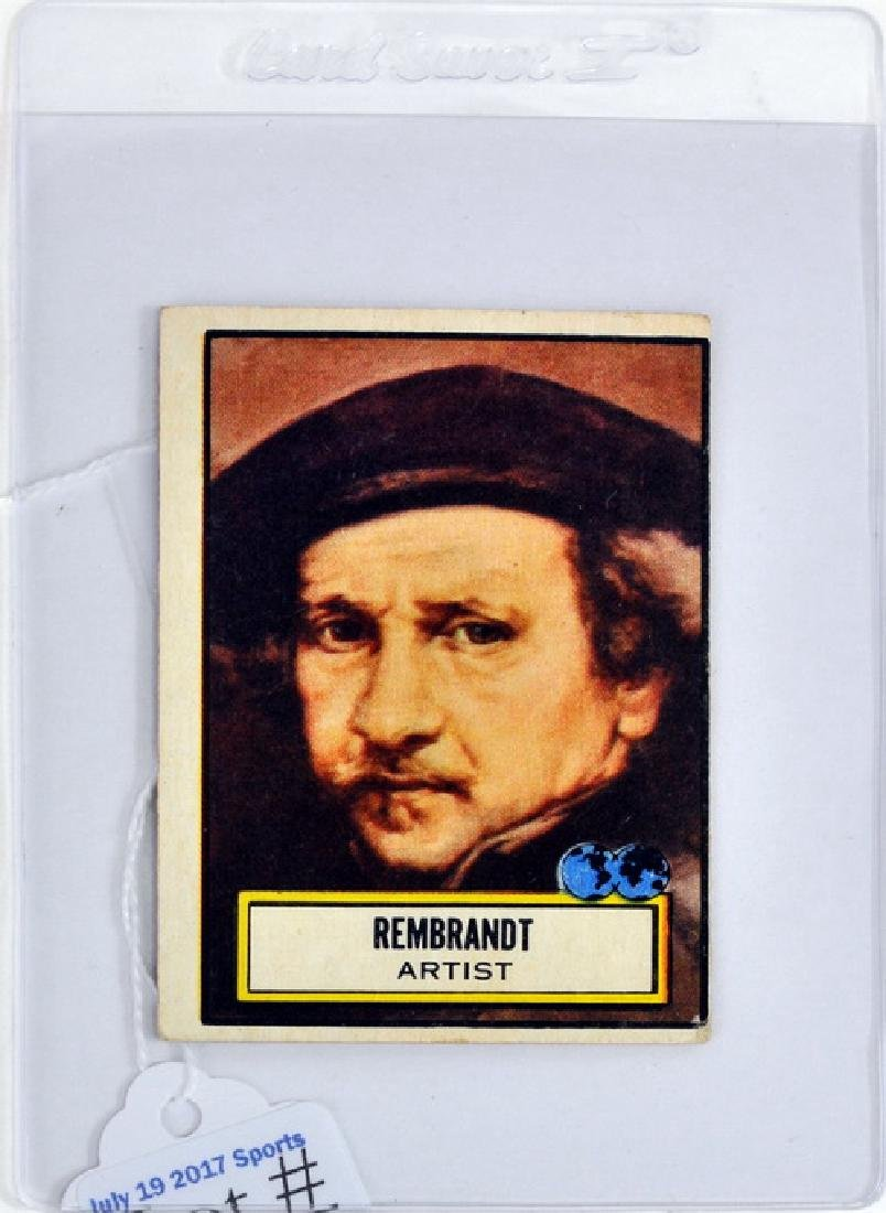 Topps Look And See Rembrandt Card