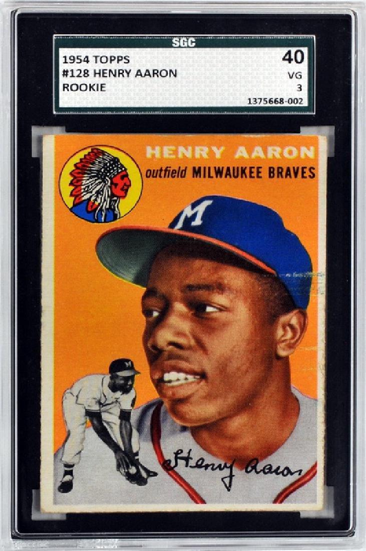 1954 Topps Hank Aaron Rookie Card Sgc 40