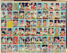 1965 Topps Baseball Uncut Sheet Mickey Mantle