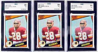 9 1984 Topps Darrell Green Graded Rookie Cards