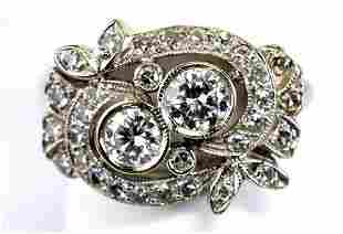 Ladies Vintage 14kt White Gold 1 Ct. Diamond Ring