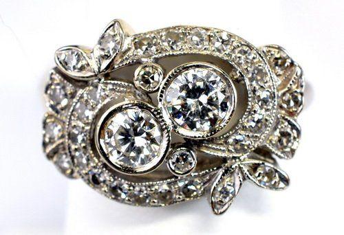 Ladies Vintage 14kt White Gold 1 Ct. Diamond Ring