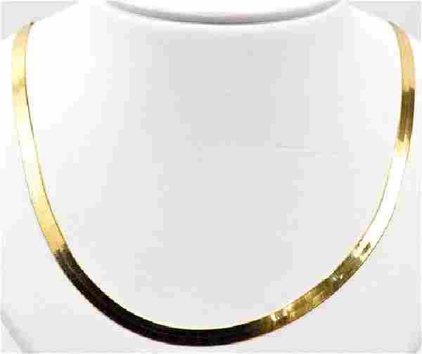 "14kt. Gold Herringbone Necklace 18"""