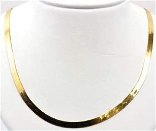 14kt. Gold Herringbone Necklace 18""