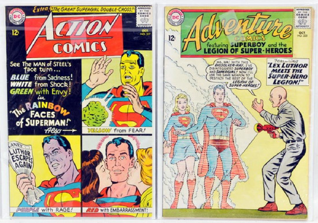 Four high grade Superman 12 cent comics
