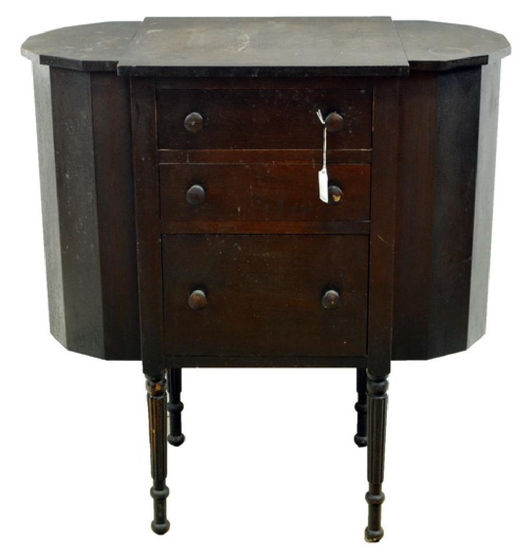 Antique Martha Washington pine sewing stand