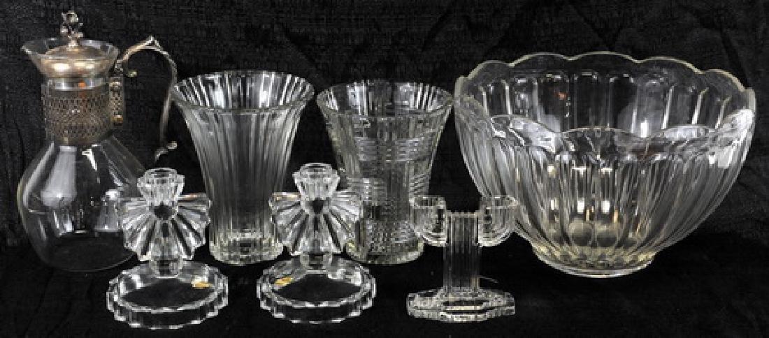 Vintage ceramic vases, candleholders and