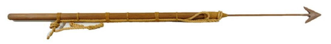 Harpoon with wooden handle