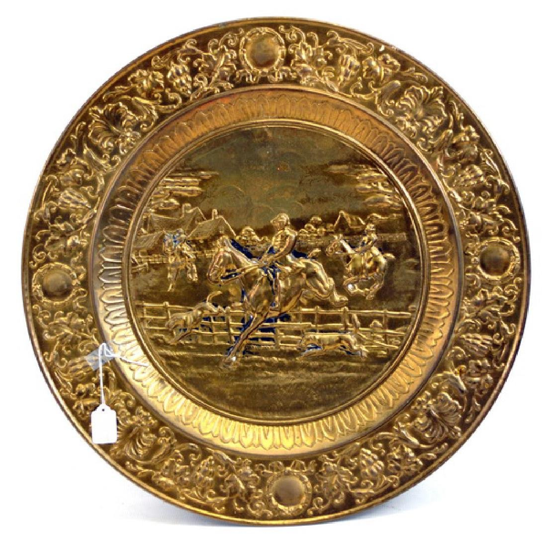 Antique Brass Platter, Spittoon
