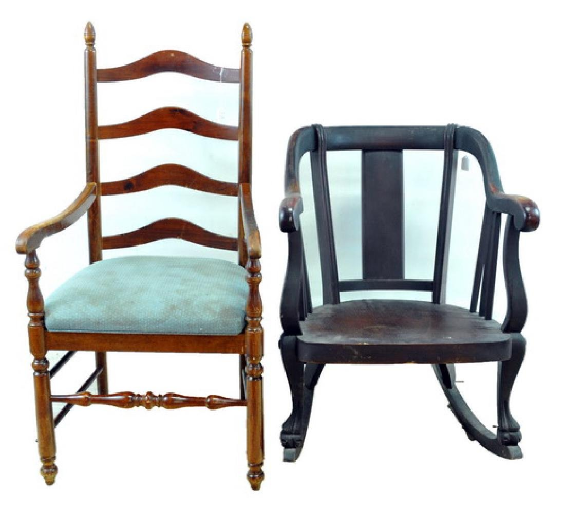 Empire Rocker And Ladder-back Chair