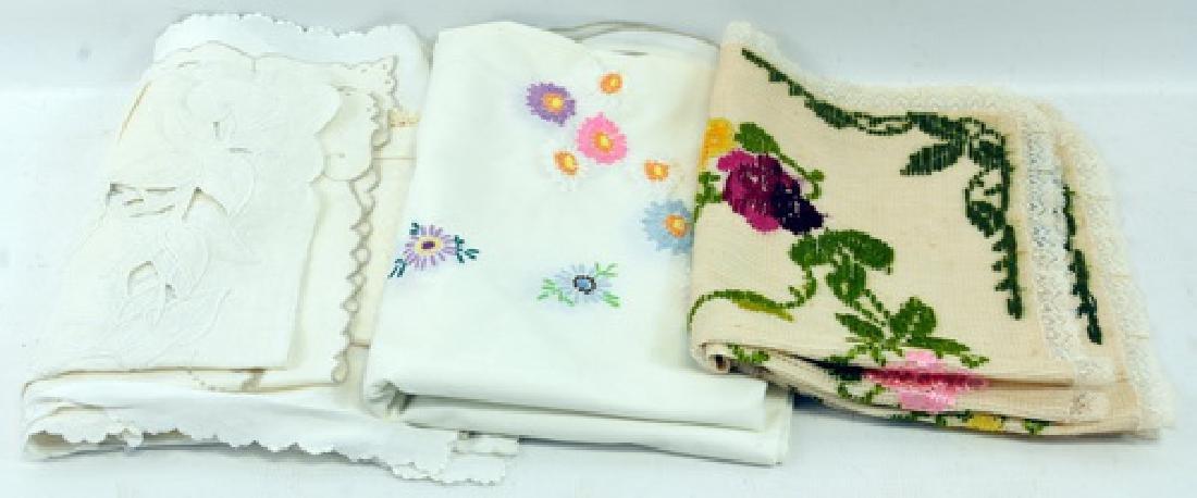 Vintage dresses, embroidered linens