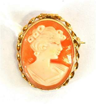 Hand Carved Cameo By Designer Giovanni Apa 14k