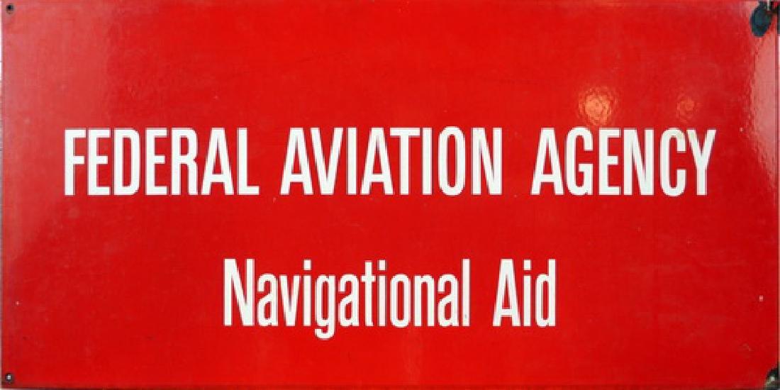 Vintage Federal Aviation Agency Porcelain