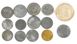 14 Nazi German coins