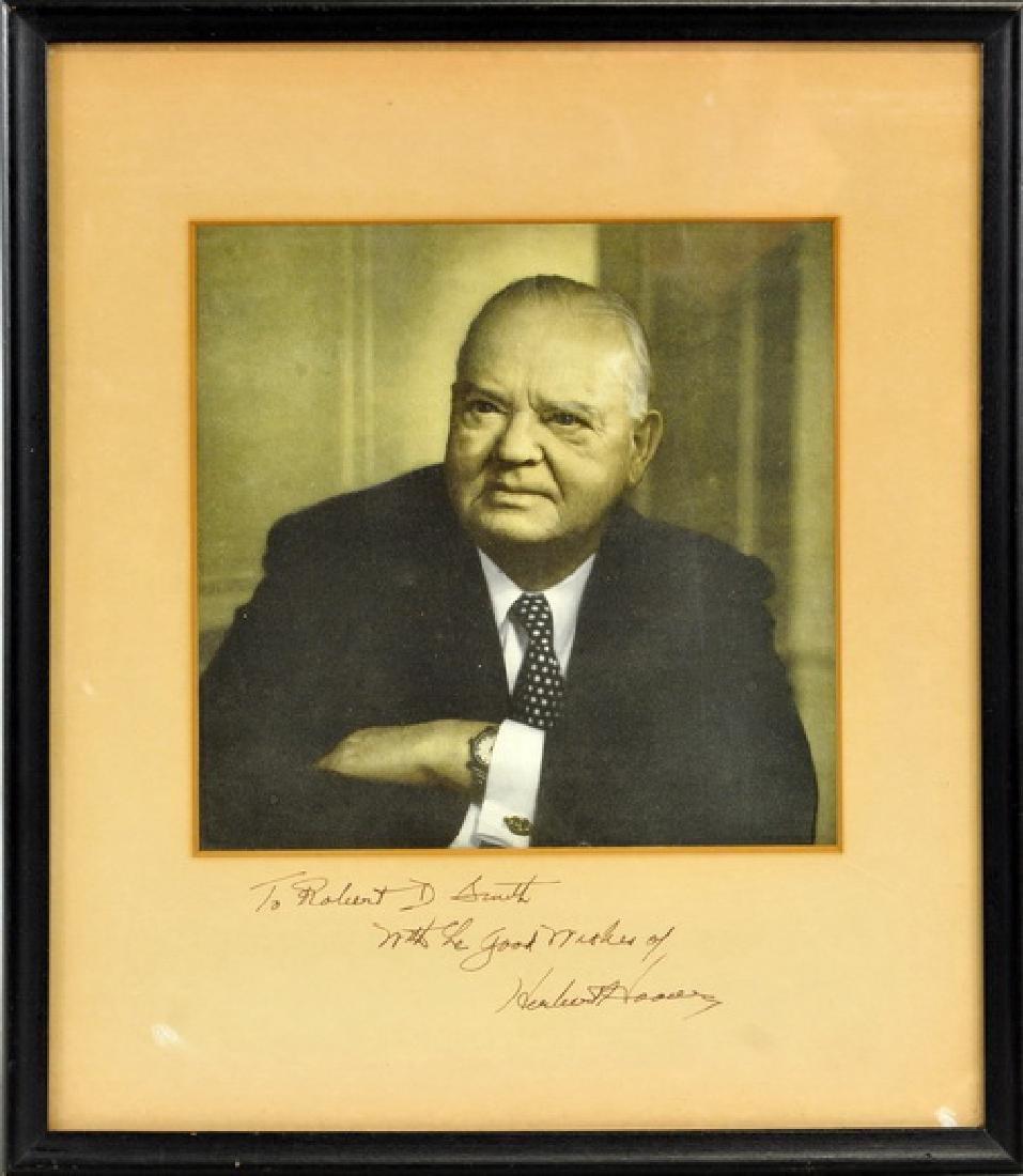 31st President Herbert Hoover signed photo