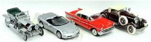 Four Franklin Mint Model Cars
