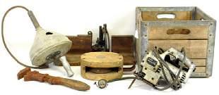 Hood Metal Wood Advertising box vintage tools