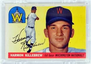 1955 Topps Harmon Killebrew Rookie Card Ungraded