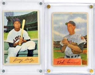 Four 1954 Bowman Color Hall Of Famers