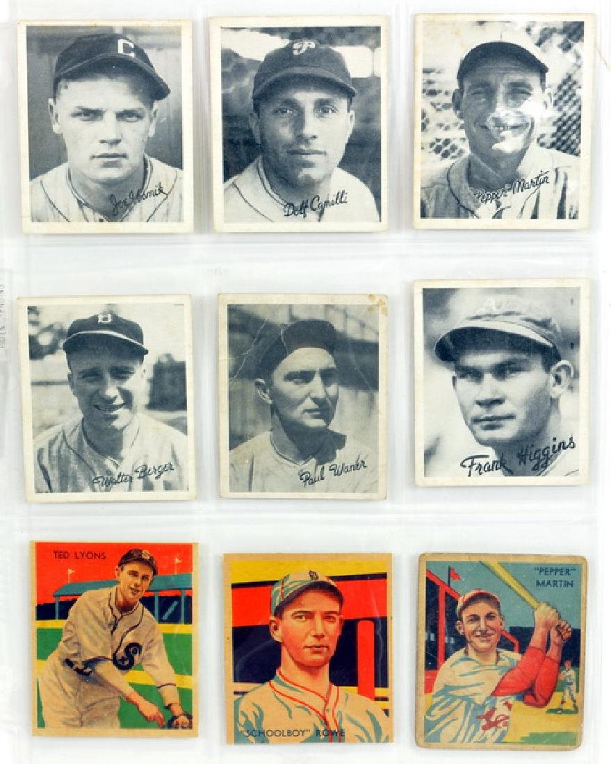 9 1940's Baseball Cards Diamond Stars/goudeys