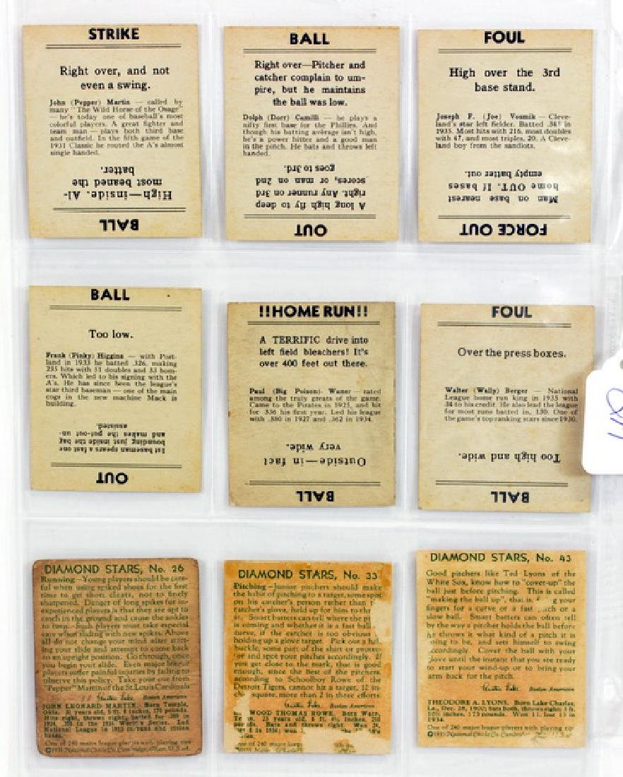 9 1940's Baseball Cards Diamond Stars/goudeys - 2