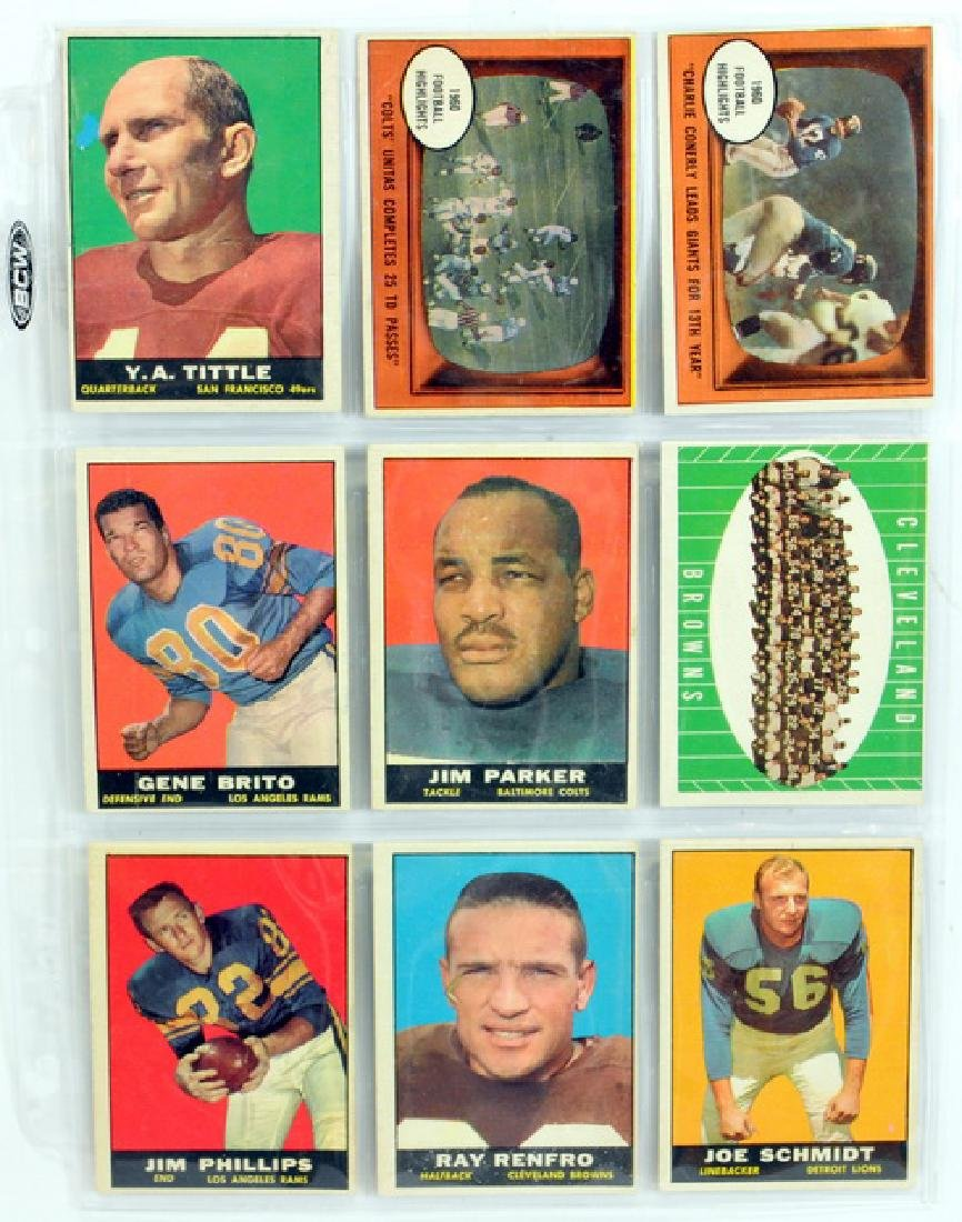 25 1961 Topps Football Cards