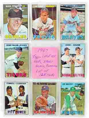 125 1967 Topps Baseball Cards Hof And Stars