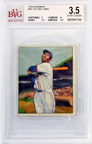 1950 Bowman Ted Williams Bvg 3.5