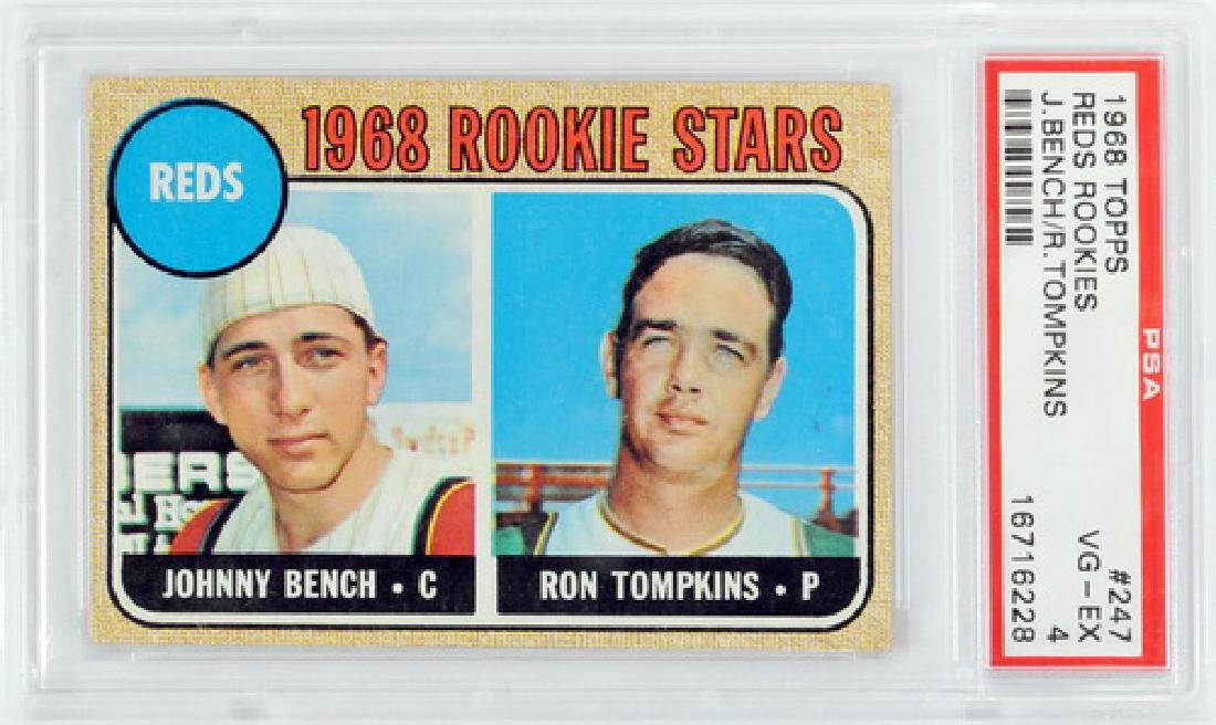 1968 Topps Johnny Bench Rookie Psa 4
