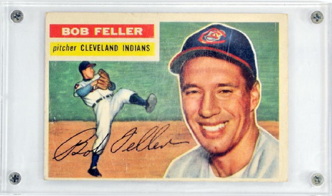 1956 Topps Baseball Bob Feller