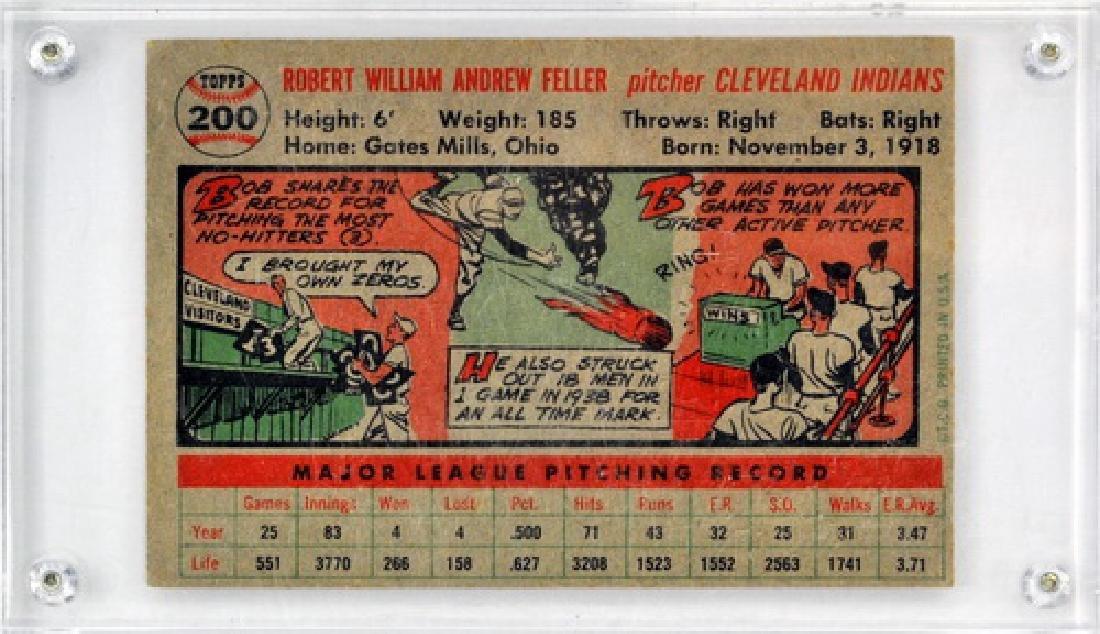 1956 Topps Baseball Bob Feller - 2