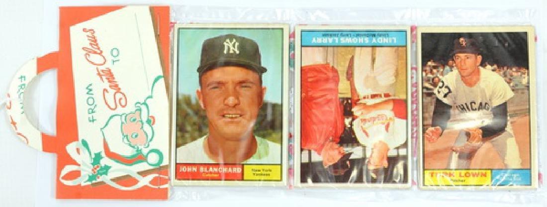 1961 Topps Baseball Christmas Rack Pack