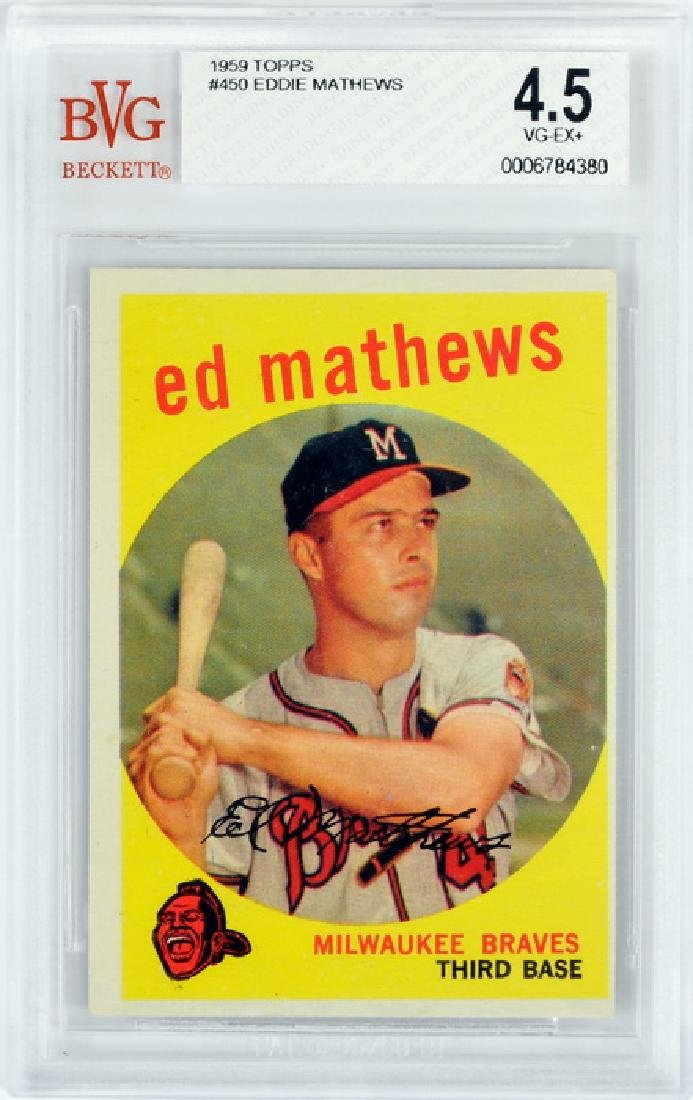 1959 Topps Eddie Mathews Bvg 4.5